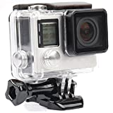 Yimobra Waterproof Housing for Gopro Hero 4 3+ Protective Rotective Underwater Dive Hero Case Transparent (Gopro Hero 4 3+)