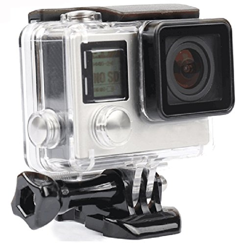 Yimobra Waterproof Gopro Hero Housing for Protective Rotective Underwater Dive Hero 4 3+ Case Transparent (Gopro Hero 4 3+)