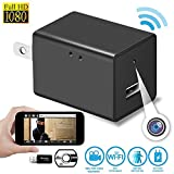 Wireless Hidden Spy Camera- Nanny Cam- Video Recording System With USB Wall Charger Design-1080P HD Home Security Camera-Support iOS Iphone and Android -Wifi Remote Live Viewing and Motion Detection