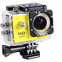 1080P Wifi Full HD Helmet Sports Action Waterproof Car Camera Camcorder Yellow