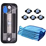 Replacement Parts Kit - Reservoir Pad 5 PCS Washable Mops 5 PCS Wick Caps for iRobot Braava 320 380 Mint 4200 5200 Mopping Robot Vacuum Cleaner, Replenishment Reservior Mop Wick Accessories Set