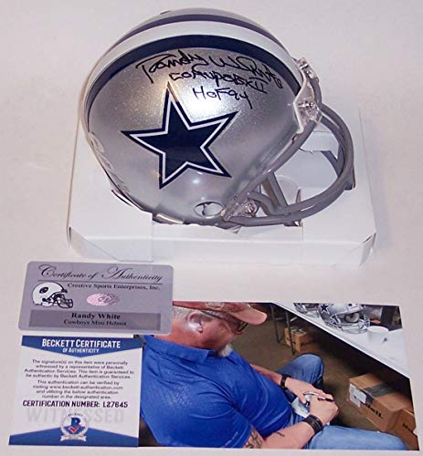 Randy White Autographed Hand Signed Cowboys Mini Helmet - BAS