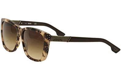 b20d1ad2a1 Amazon.com  Diesel Women s DL0089 Butterfly Brown Sunglasses 59 ...