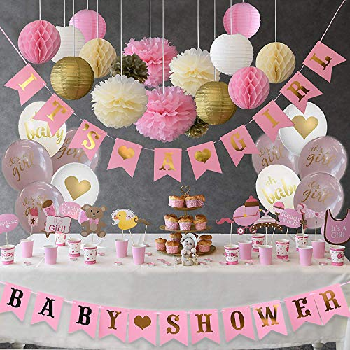 Golden Baby Shower Decorations for Girl