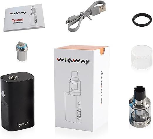Kit Box Mod de vapeo de Winway para principiantes, incluye un potente cigarrillo electrónico de líquido Tymod de 35 W y voltaje variable de 0,5 y 0,9 ohm, pantalla LCD, atomizador ajustable,