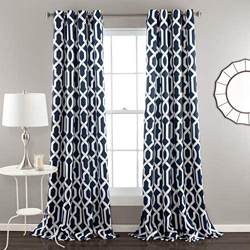 Lush Decor Edward Trellis Room Darkening Window Curtain Panel Pair