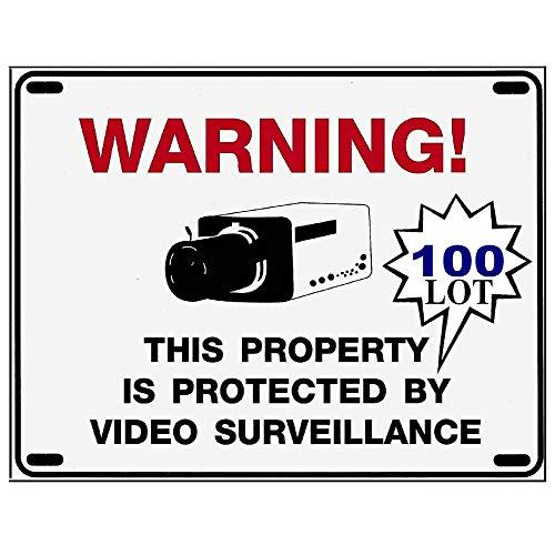 wholesale home surveillance camera warning signs 100