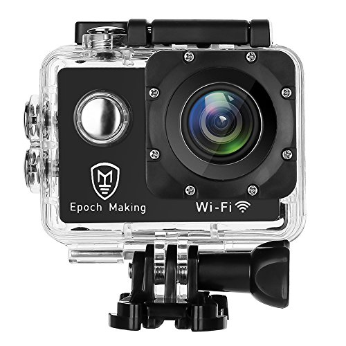 Epoch Making Action Camera, 4K Ultra HD WIFI Waterproof Sports Action Camera With 2-INCH LCD For Racing,Riding,Motorcycle,Surfing,Diving,Snorkeling,and More Water Sports by Epoch Making (Image #1)
