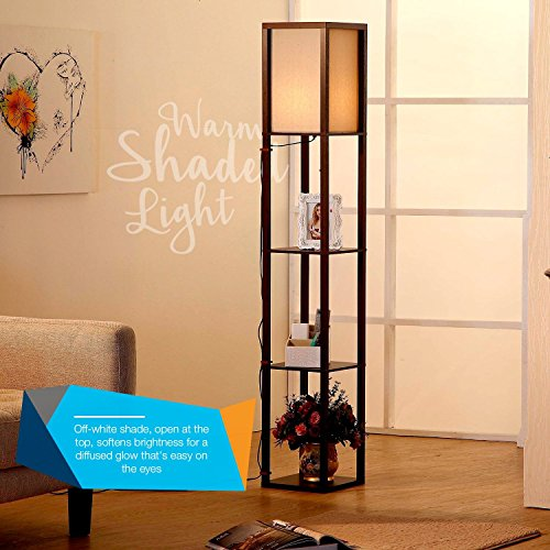 Brightech Maxwell Led Shelf Floor Lamp Alexa