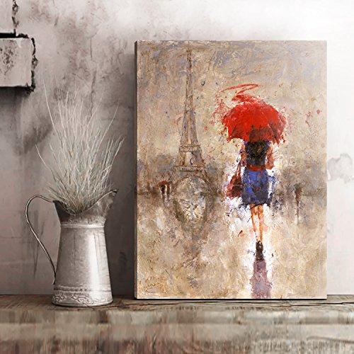Paris Panel Bed - Canvas Wall Art- Canvas Print