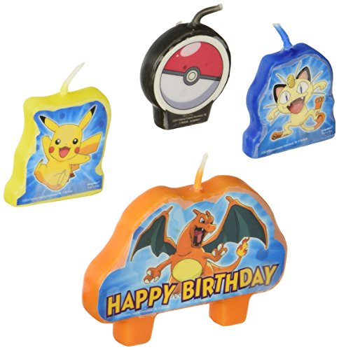 Pikachu and Friends Birthday Candle Set
