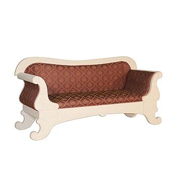 Biedermeier Sofa Salur 3 Sitzer Rot Gold Landhausmöbel