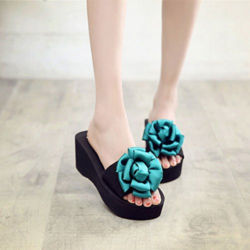 Slippers Mujer Verde 38 Zapatillas Slippers Chanclas Zapatillas Slip Slippers Beach Flowers Zapatillas Slippers DHG cqf17ZZ