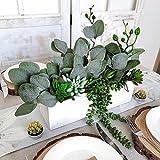 18 Pcs Eucalyptus Leaves Stems Bulk Artificial