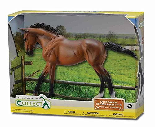 CollectA Thoroughbred Mare in Window Box (1:12 Scale), Bay