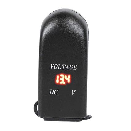 Yanten Motorcycle 4.8A Cargador Doble USB con voltímetro ...