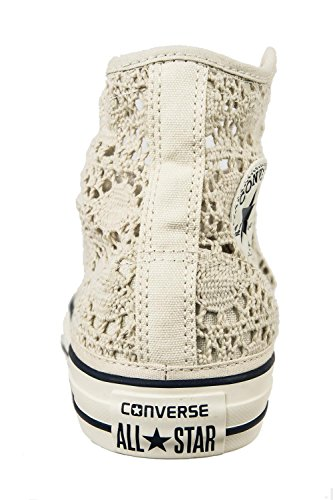 Parchiment Stringate Donna Star Converse All Hi Sneakers EG xpwvXYqX