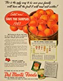 1943 Vintage Ad Del Monte Fruit Home Canning WWII Peach - Original Print Ad