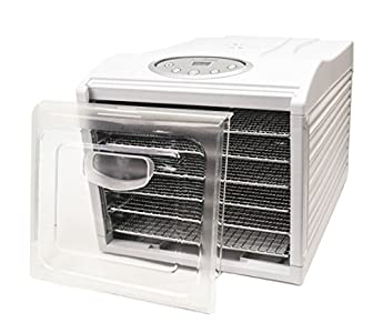Aroma Nutriware 6 Tray Digital Dehydrator Stainless Steel Trays,  without putting heat into the room and it works great!