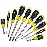 Stanley 2-65-005 - Juego 10 destornilladores Cushion Grip, puntas plana y Phillips