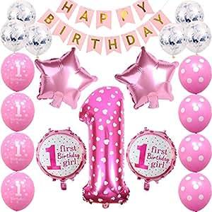 Amazon.com: Decoración de cumpleaños para niños y niñas de ...