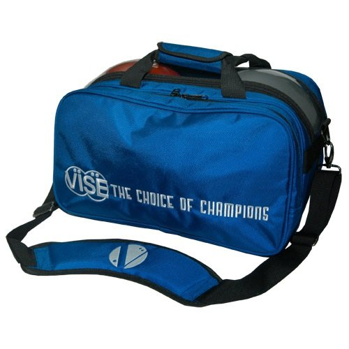 Vise 2 Ball Clear Top Tote Plus Blue Bowling Bag by Vise Inserts