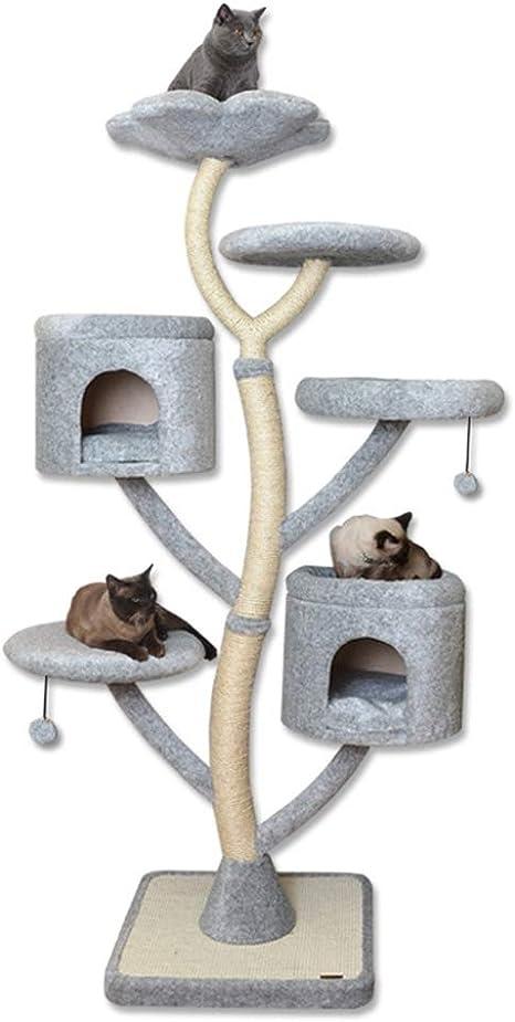 LYXDZW Árbol para Gato Torre De Escalada 200cm Gris Estable ...