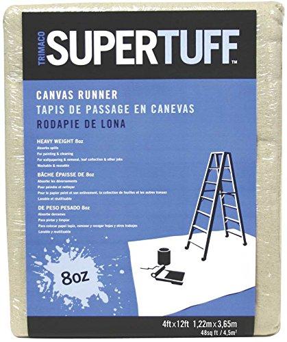 TRIMACO 8 oz Premium Contractor Grade Heavyweight Canvas Drop Cloth, 4 by - Glove Ounce 8 Canvas