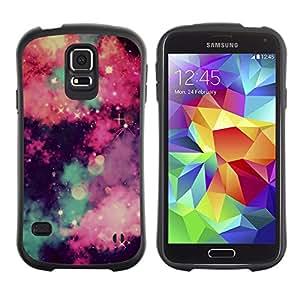 LASTONE PHONE CASE / Suave Silicona Caso Carcasa de Caucho Funda para Samsung Galaxy S5 SM-G900 / stars universe sky clouds majestic night