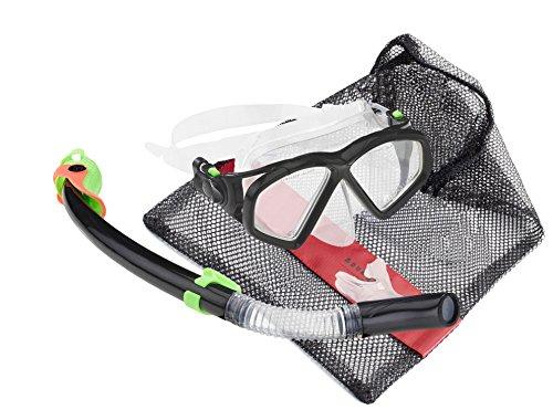 Aqua Lung Sport Tauchset La Costa Deluxe Pro Black Edition (Tauchmaske, Schnorchel & Netzbeutel)