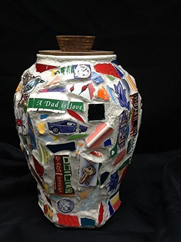 Mosaic Vase, Memorial Urn, For Dad, Christian Art by Mountain Mosaics