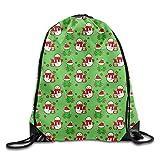Christmas Snowman Waterproof Drawstring Bag Sport Backpack