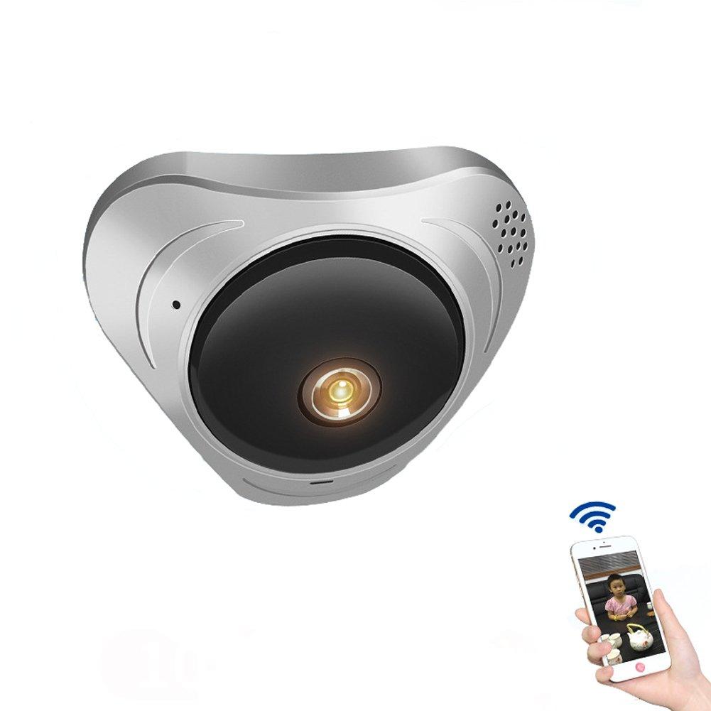 監視カメラ 全景監視 防犯カメラ ワイヤレス ベビーモニター 960P 高画質 録音 暗視機能 動体検知 360° 遠隔操作 130万画素 WiFi スマホ ホルダー付き B07CLZK8LH  魚眼360°