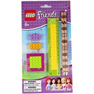 Official Lego 'Friends' 6 pc School Stationary Set Includes Pencils, Ruler, Erasers and Sharpener