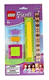 Official Lego 'Friends' 6 pc School Stationary Set Includes Pencils, Ruler, Erasers