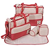 Baybee Kwicky Premium Quality Baby Diaper Bag / Mother Bag / Maternity Hand Bag Bag 5 PC Set