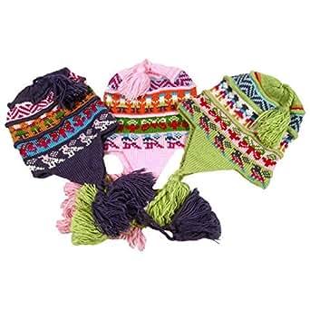 Amazon.com: #3283 Chullo Peru Ski Alpaca Wool Winter Hand