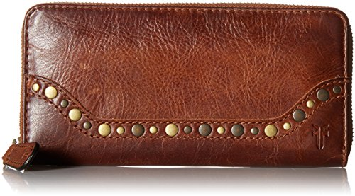 FRYE Melissa Stud Zip Around Wallet