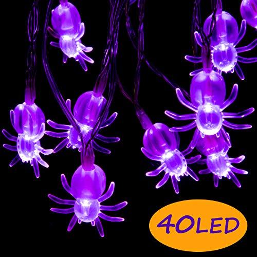 Halloween Yard Decorations Lights - GIGALUMI Halloween String Lights, 40 LED