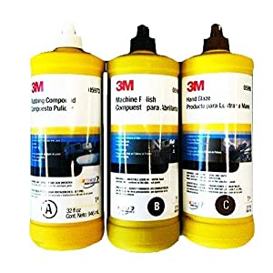 3M BUFFING & POLISHING Compound Hand Glaze Package 5973 5996 5990