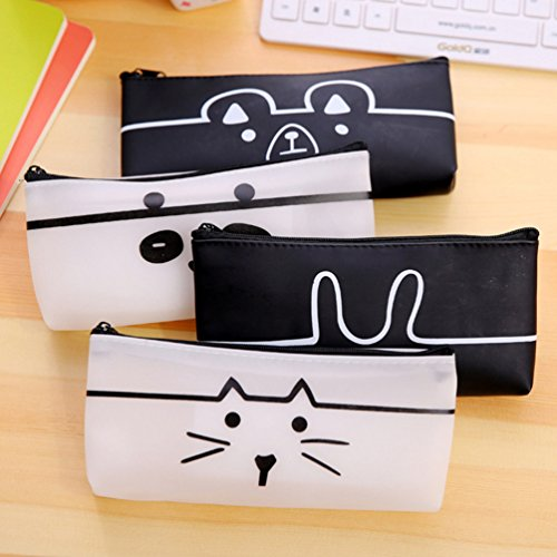 AODEW Pencil Case Pen Bag Zippered Canvas Pouch Cosmetic Bags Makeup Pouch Cute for (Cute Panda Halloween Makeup)