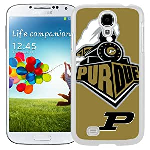 NEW Personalized Customized Galaxy S4 Case with Ncaa Big Ten Conference Football Purdue Boilermakers 4 Logo Cell Phone Hardshell Cover Case for Galaxy S4 SIV S IV I9500 I9505 White