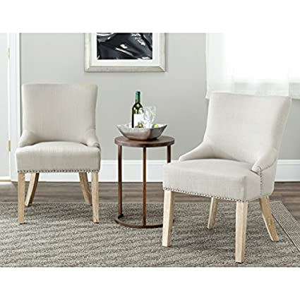 Charmant Safavieh Mercer Collection Christine Grey Polyester Nailhead Dining Chair,  Set Of 2