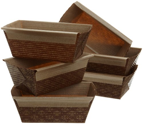 Kitchen Supply 4 x 2 x 2 Inch Paper Loaf Pan, Set of 6 (Mini Loaf Pan Paper compare prices)