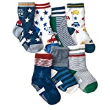 Eilin 7 Paris Baby Boy's Ankle Socks Cartoon Toddler Non-Slip Socks