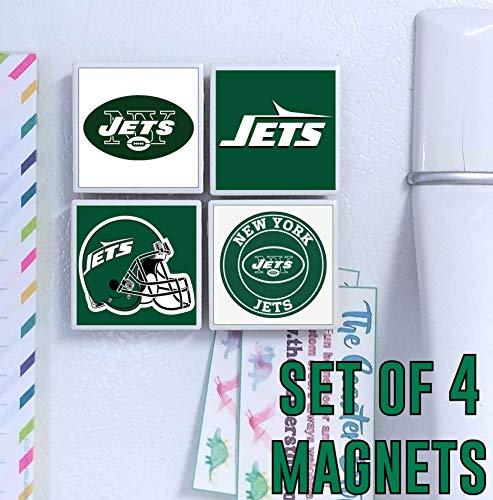 New York Jets Magnets - set of 4 tile magnets - 2