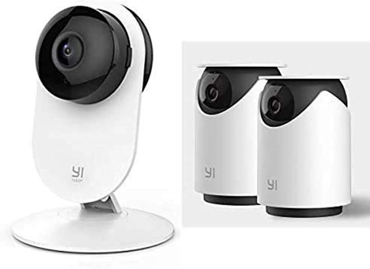 Yi Indoor Security Camera Bundle (3 Cameras Total)