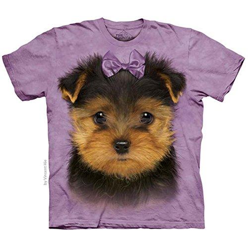 The Mountain Unisex Kinder Yorkshire Terrier Hund T Shirt