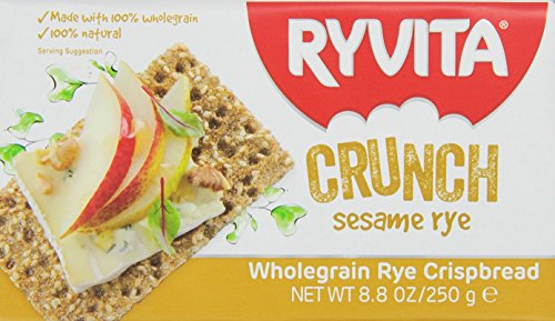 Ryvita Whole Grain Rye Crispbread, Sesame Rye, 8.8-Ounce Boxes (Pack of (Ryvita Whole Grain)