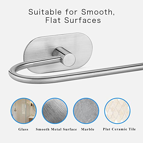 Geentop Self Adhesive Toilet Paper Holder, Stainless Steel Bathroom Tissue Paper Dispenser Roll Towel Holder Storage with Brushed Finish Rushproof, Strong and Waterproof by Geentop (Image #5)